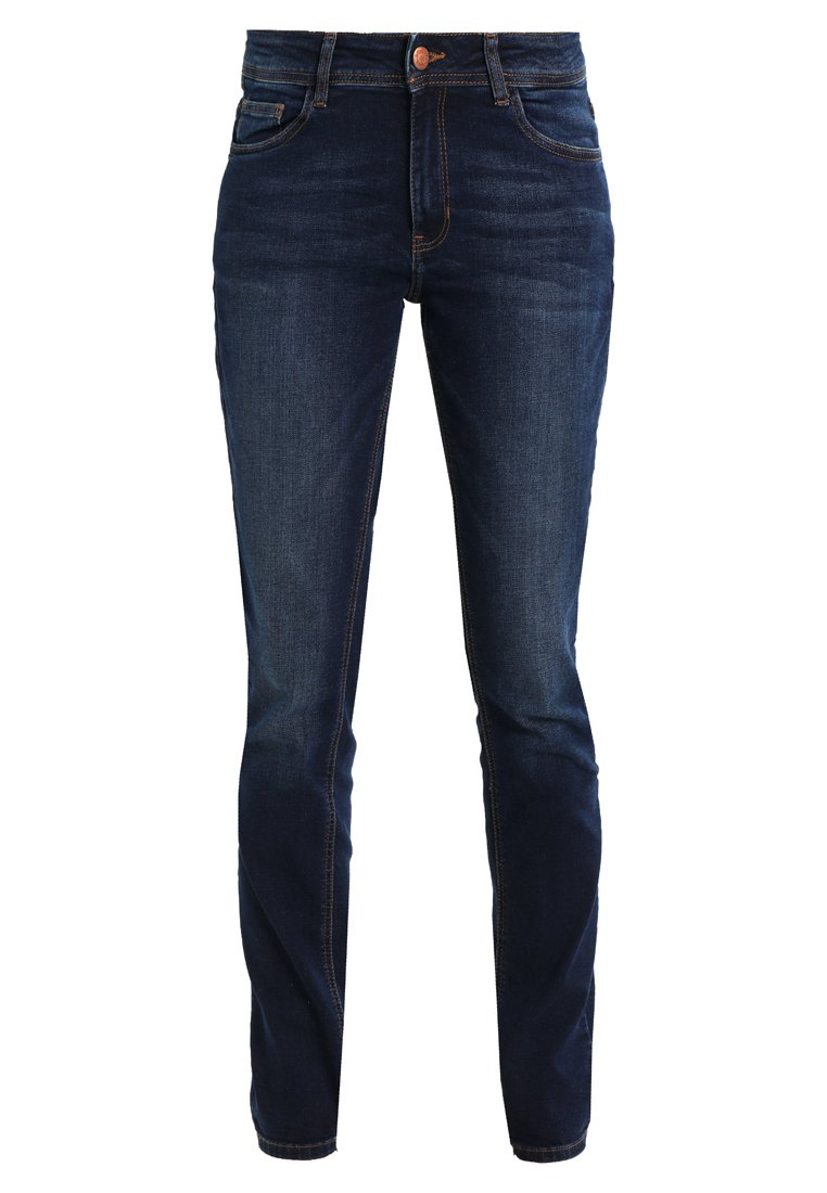 Q/S designed by SLIM LEG Jeansy Straight Leg dark blue denim