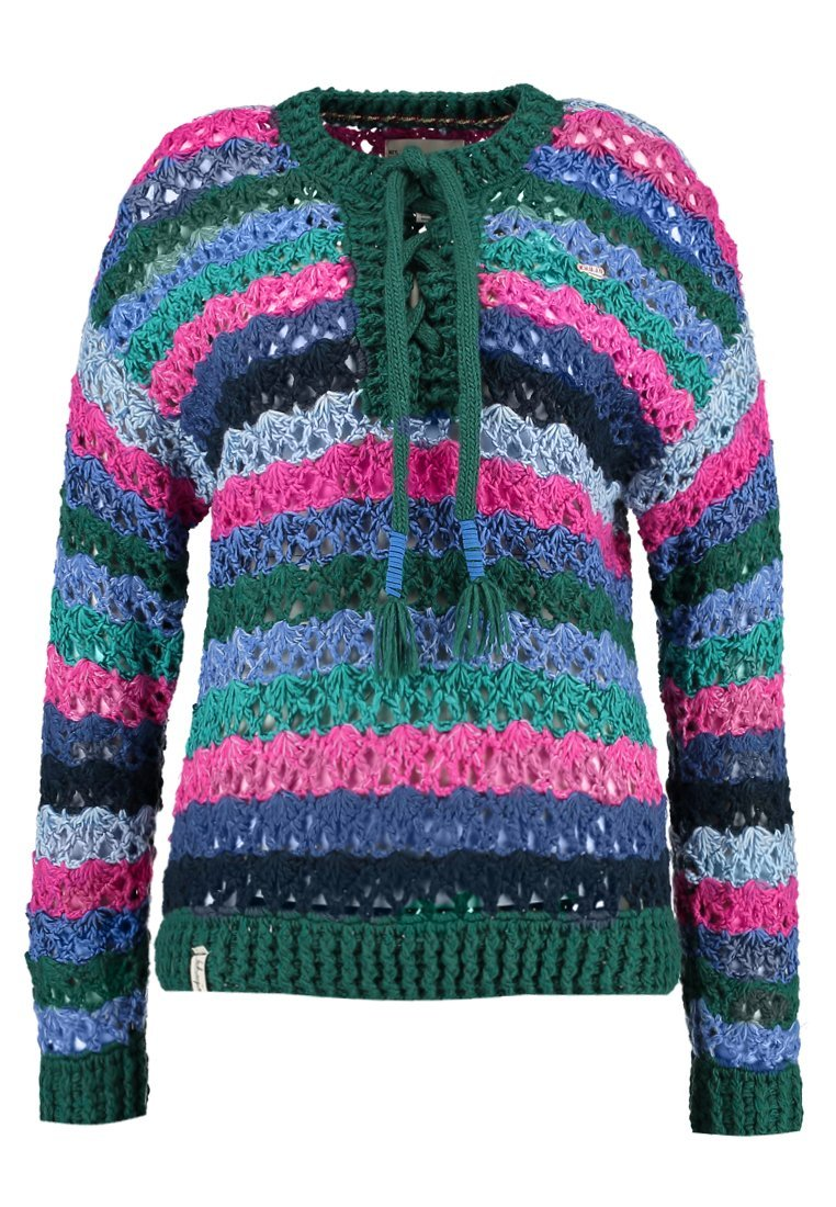 khujo ANTHELIA Sweter multicoloured/green