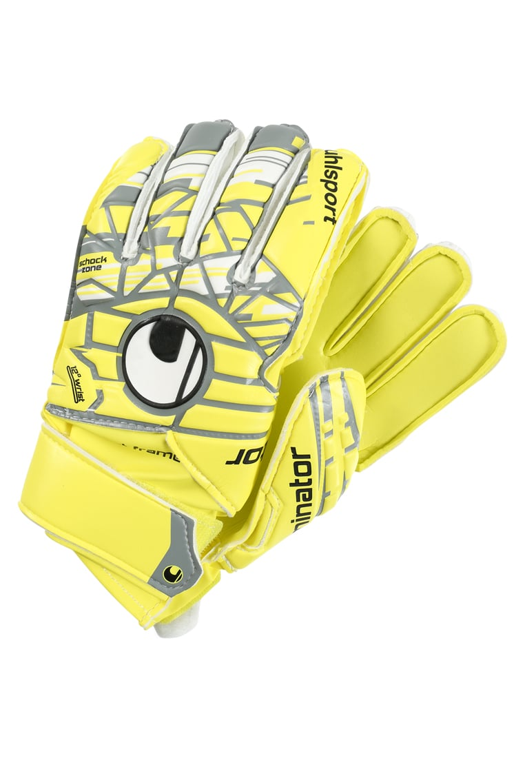 Uhlsport ELIMINATORSOFT Rękawice bramkarskie lite fluo yellow/griffin grey/white - 1011029