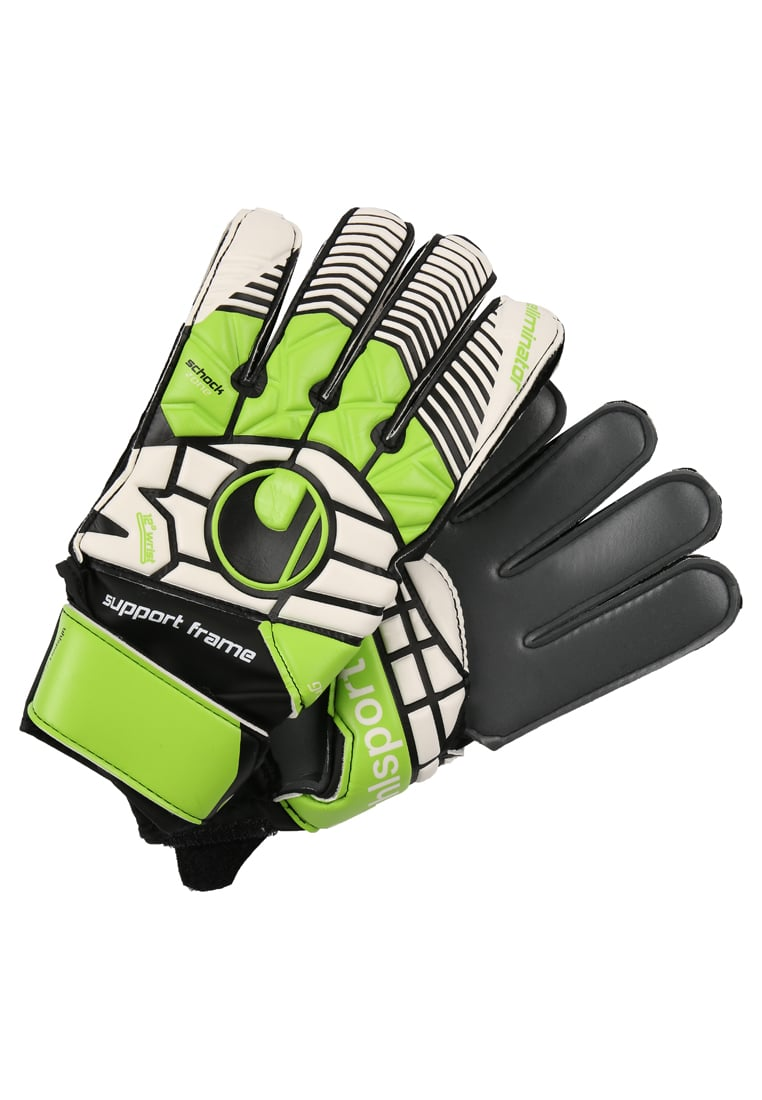 Uhlsport ELIMINATOR SOFT GRAPHIT Rękawice bramkarskie schwarz/blau/power grün - 1000190