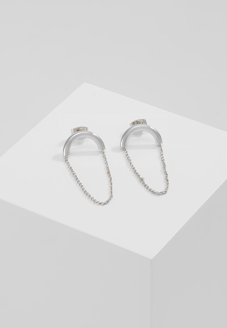 Whistles ARCH AND CHAIN EARRRING Kolczyki silvercoloured - ARCH AND CHAIN EARRRING