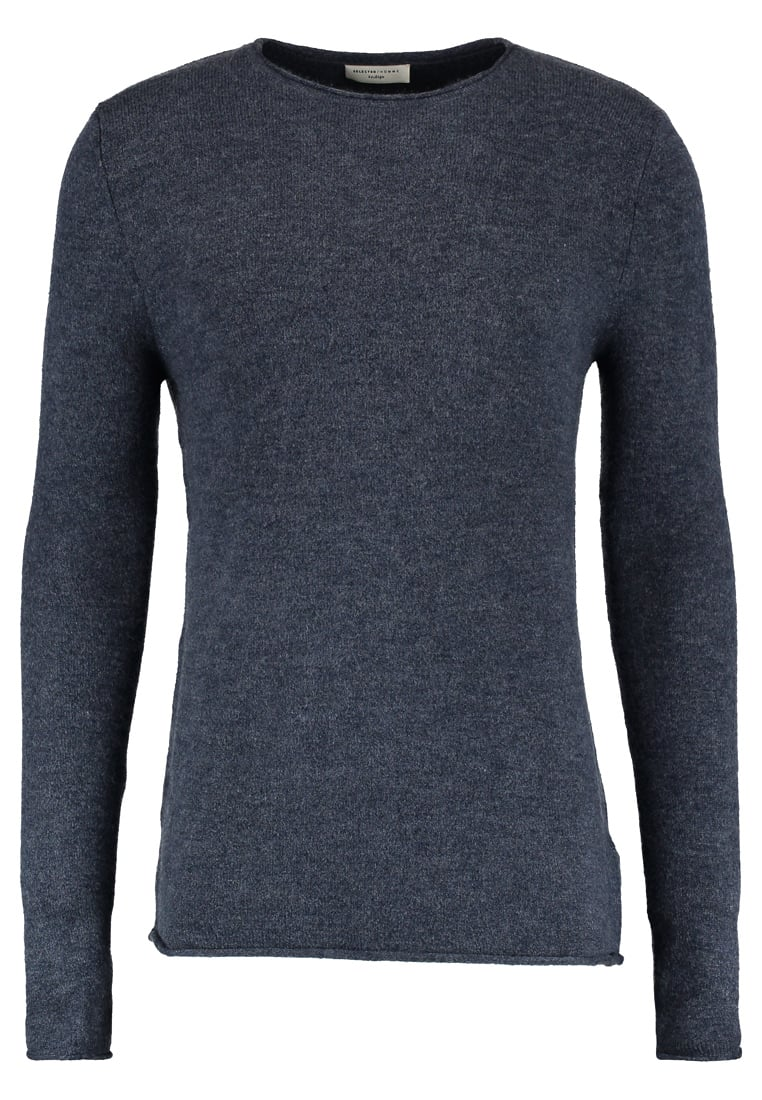 Selected Homme CREWNECK Sweter dark sapphire - 16054573