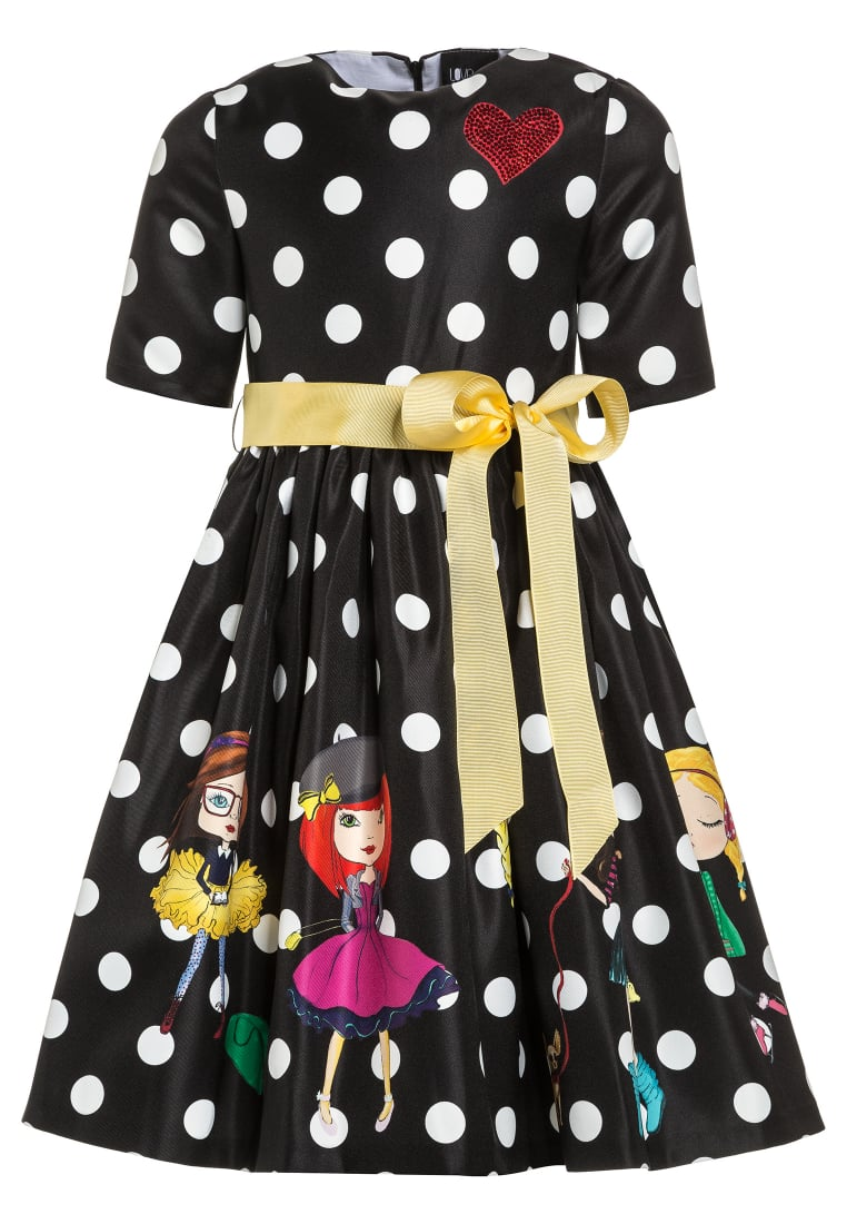 Love Made Love POLKA DOT WITH LITTLE GIRLS Sukienka koktajlowa schwarz/rosa - 180056