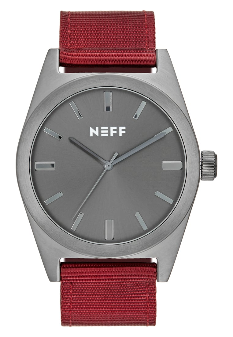 Neff NIGHTLY Zegarek gunmetal/maroon - NF0223