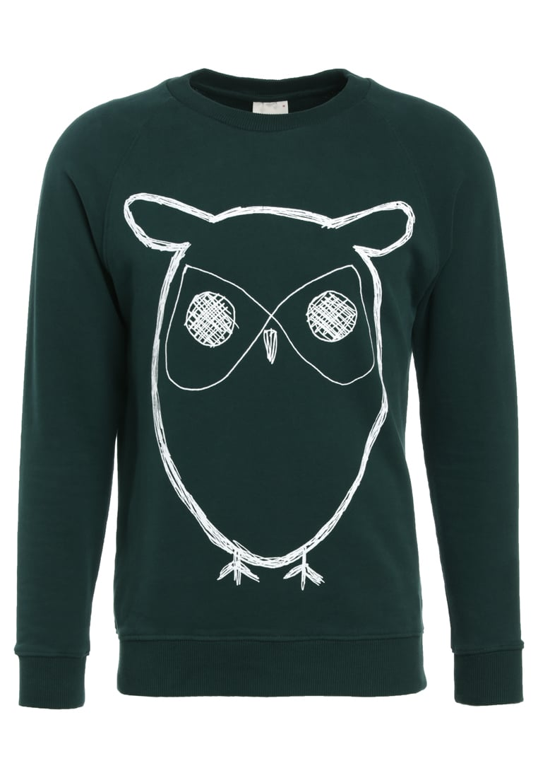 Knowledge Cotton Apparel BIG OWL Bluza green gables - 30295