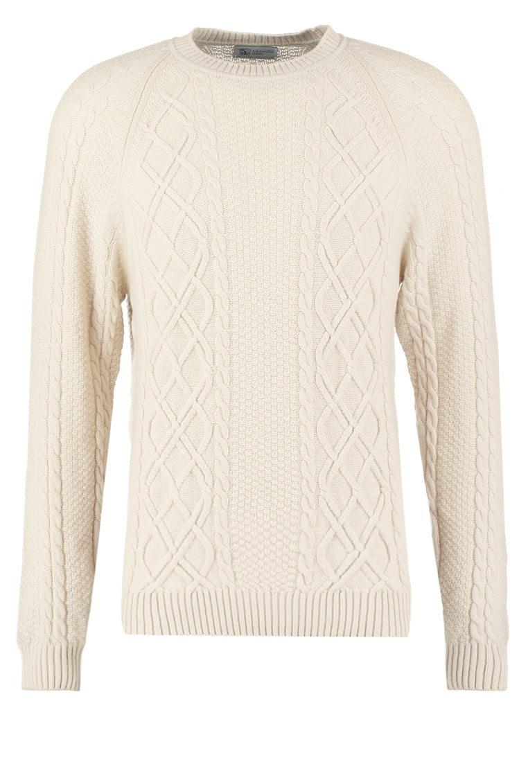 Johnstons Cashmere Sweter beige - KAA2967