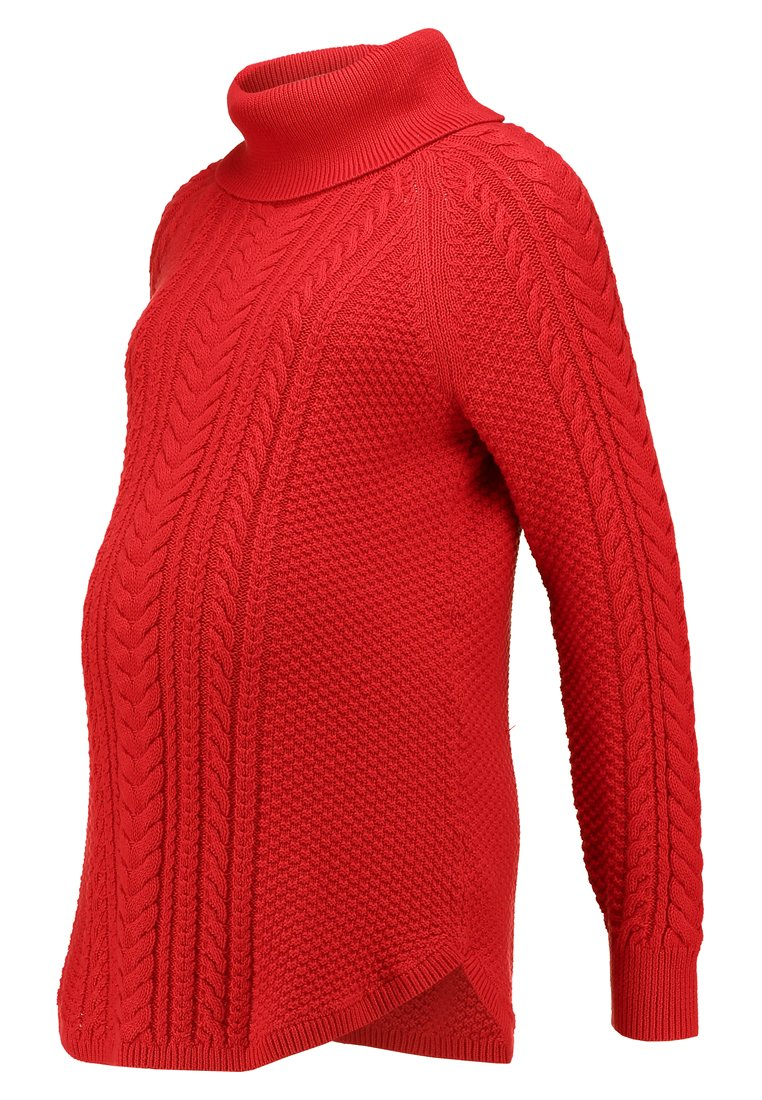GAP Maternity CABLE TNECK Sweter red - 162680