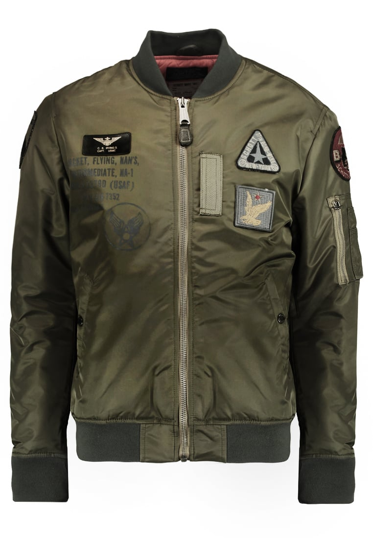 Schott NYC AIR FORCE Kurtka Bomber army khaki - Air Force  2