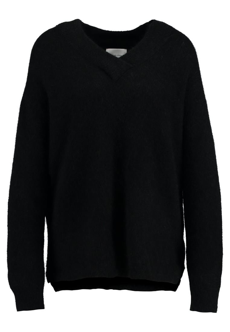 Second Female BROOK DEEP VNECK Sweter black - 50603