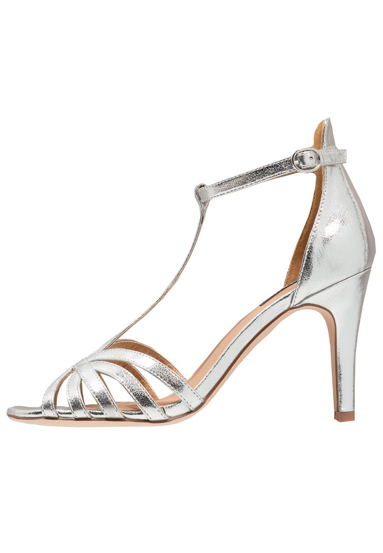 ONLY SHOES ONLABBY Sandały na obcasie silver - 15150520