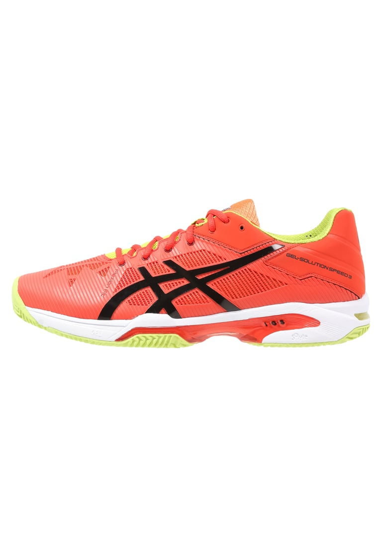 ASICS GELSOLUTION SPEED 3 CLAY Buty do tenisa Outdoor orange/black/lime - E601N