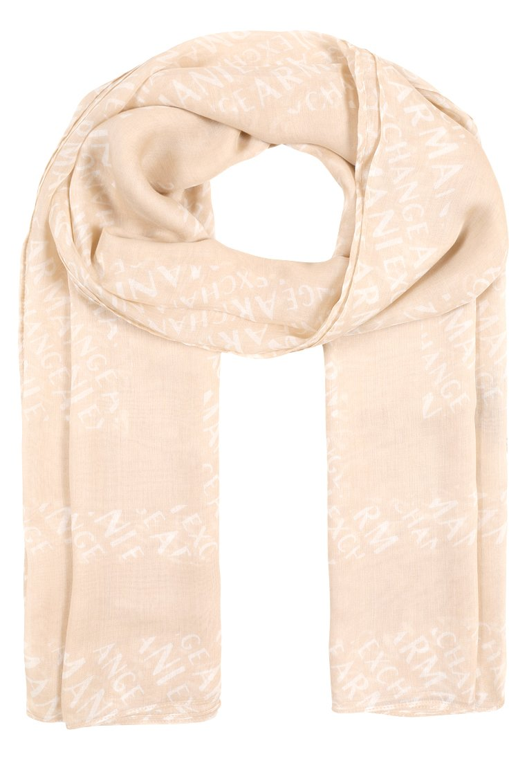 Armani Exchange SCARF Szal toasted almond/white - 8NY401 YN85Z