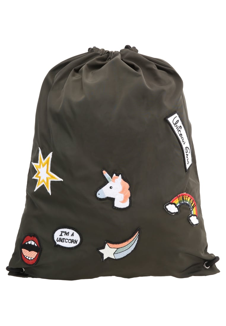 Even&Odd X Visual Statements Plecak olive - Unicorn_Backpack_Patches