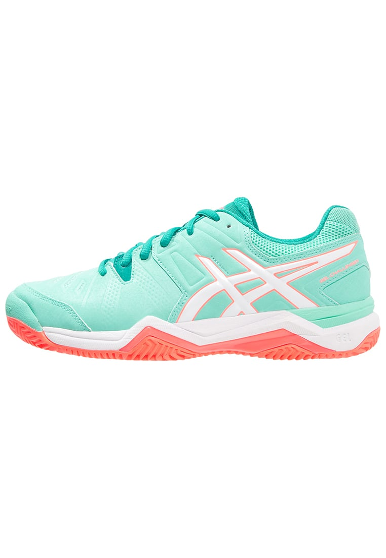 ASICS GELCHALLENGER 10 CLAY Buty do tenisa Outdoor cockatoo/white/flash coral - E555Y