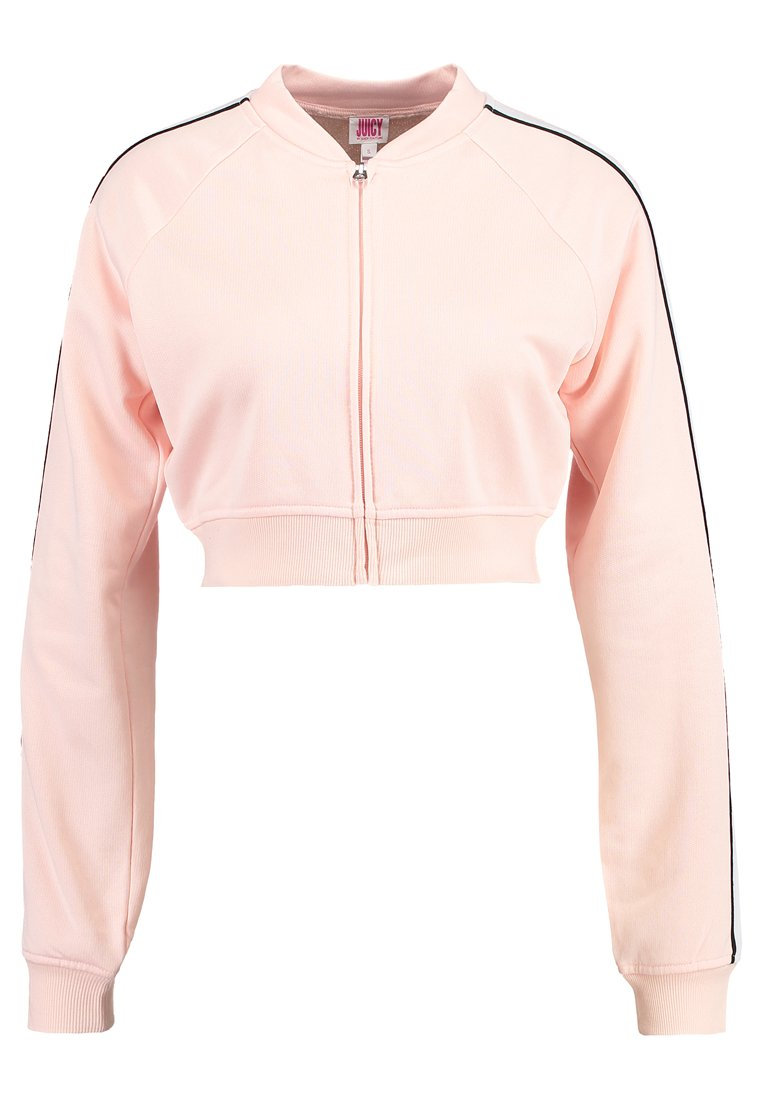 Juicy Couture LOGO PATCH TRICOT JACKET Bluza rozpinana light/pastel pink - JWTKT120703