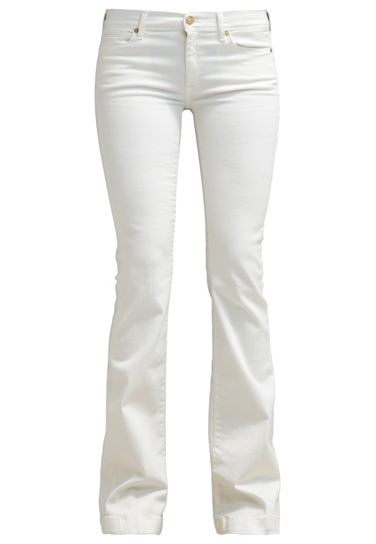 7 for all mankind CHARLIZE Jeansy Dzwony milk - SY5T150