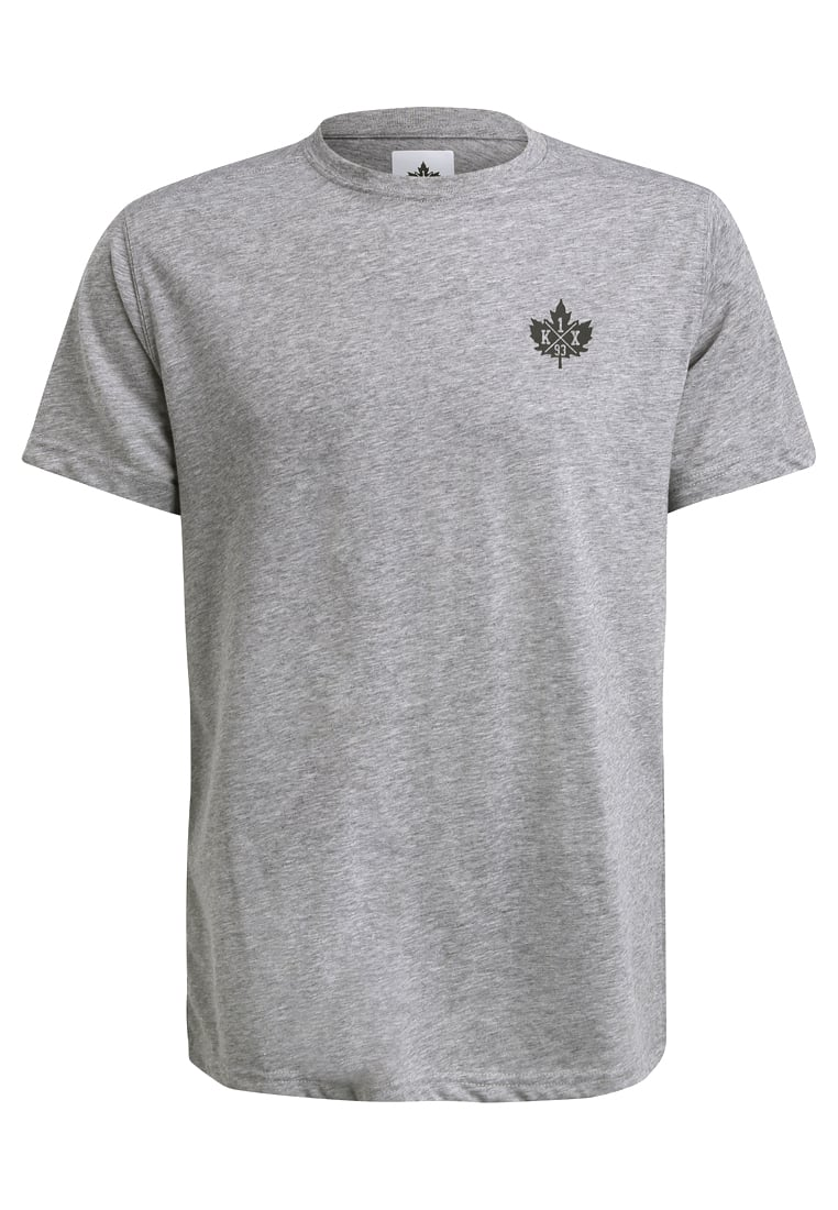 K1X CORE BIG LEAF Tshirt basic grey heather - 3153-2500