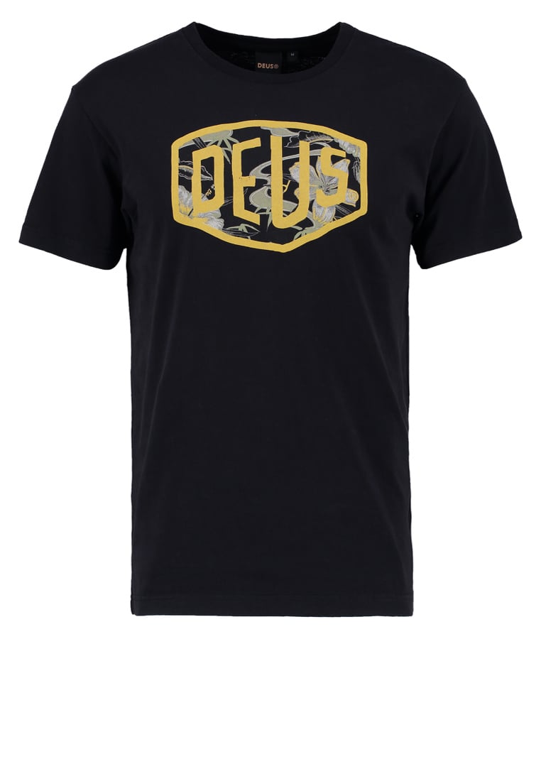 Deus Ex Machina ALOHA SHIELD Tshirt z nadrukiem black - DMP71422