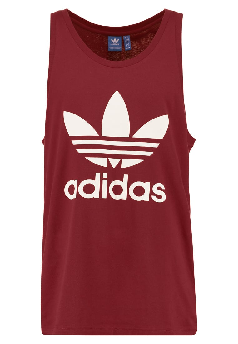 adidas Originals TREFOIL Top mystery red - TREFOIL TANK