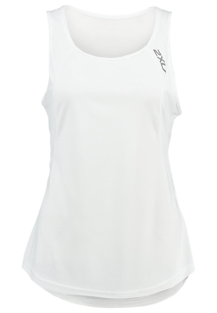 2XU Top white/silver - WR4285a
