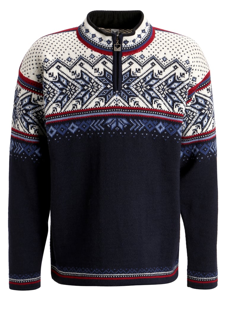 Dale of Norway VAIL Sweter midnight navy/red rose/off white - 90331