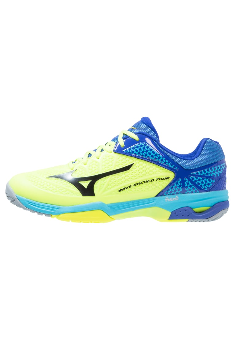 Mizuno WAVE EXCEED TOUR 2 ALLCOURT Buty do tenisa Outdoor yellow/black/surf the web - 61GA1670