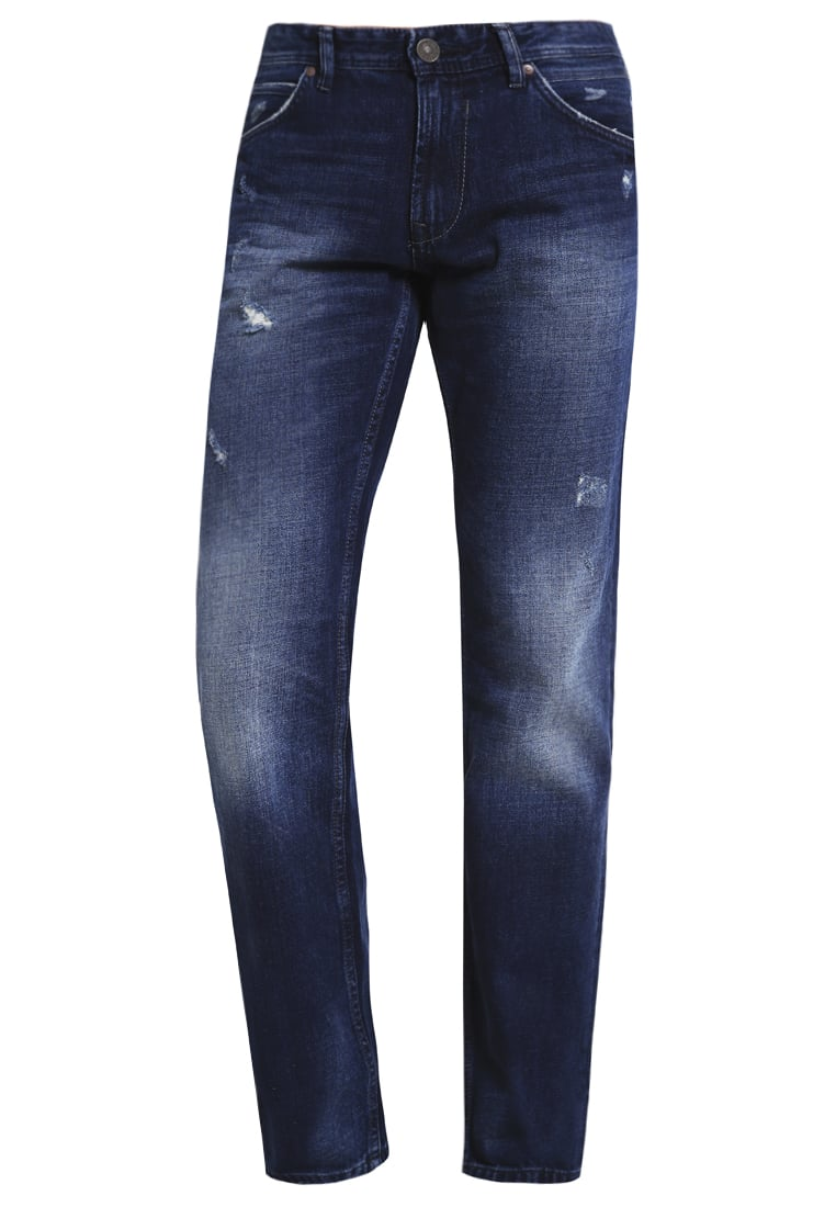 TOM TAILOR DENIM ATWOOD Jeansy Straight leg destroyed mid stone wash - 62047700912