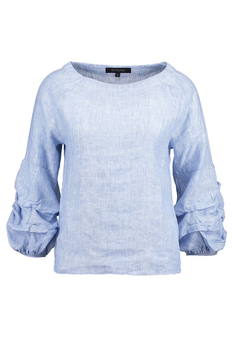 Soft Rebels CHARNETT BOATNECK Bluzka soft blue - SR218-729