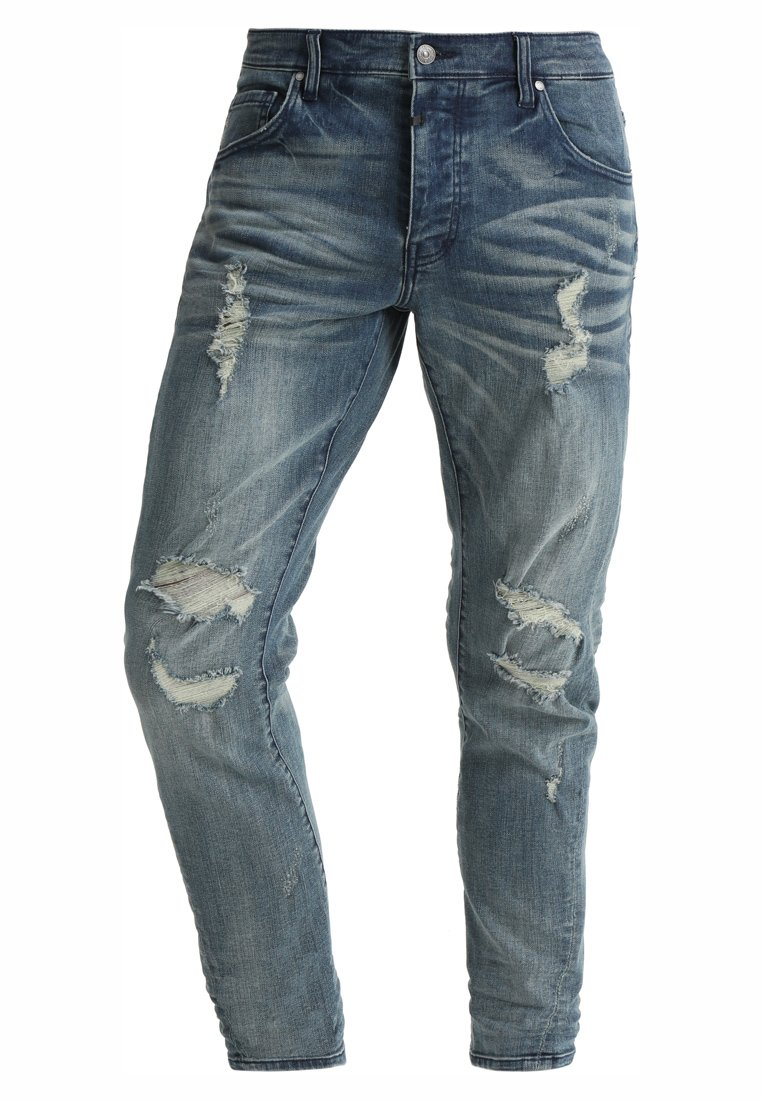 Tigha BILLY THE KID Jeansy Slim Fit light blue ripped - 102166