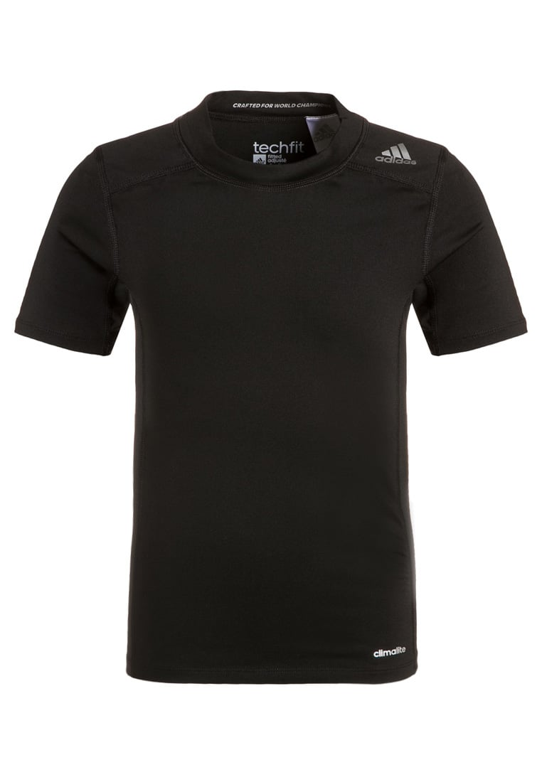 adidas Performance TECHFIT BASE Podkoszulki black - BFN56