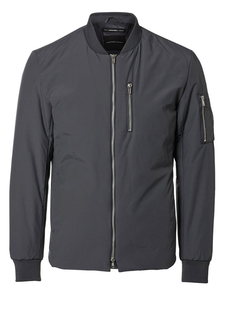 Selected Homme Kurtka Bomber dark grey - 16053670