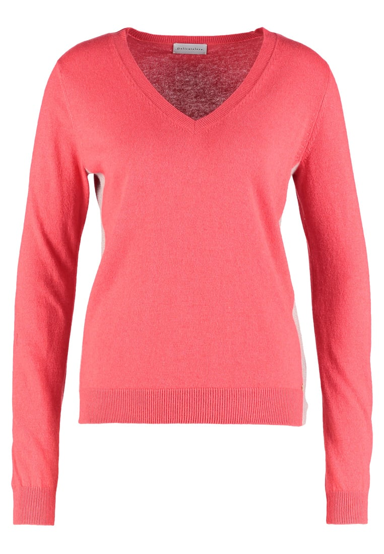 Delicatelove Sweter coral with stone grey - DL1740205