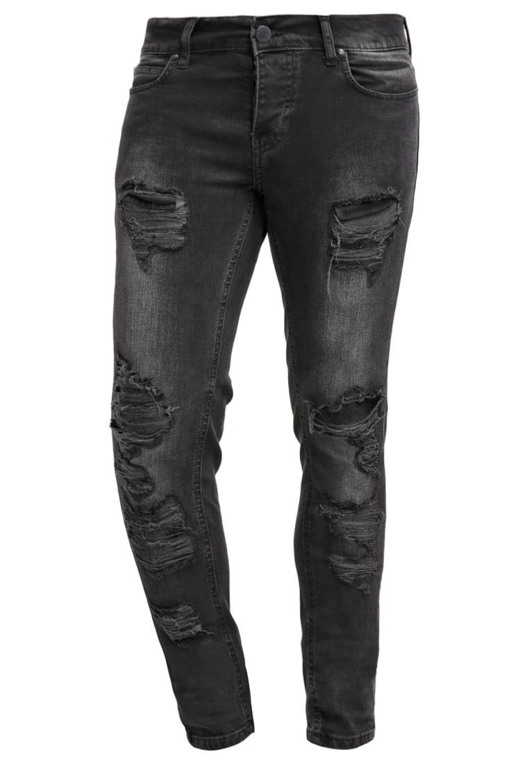fortyfour Jeansy Slim fit black denim - 2046