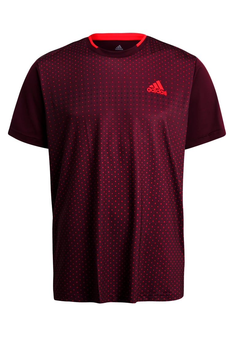 adidas Performance ADVANTAGE Tshirt z nadrukiem dark burgundy - DLY91