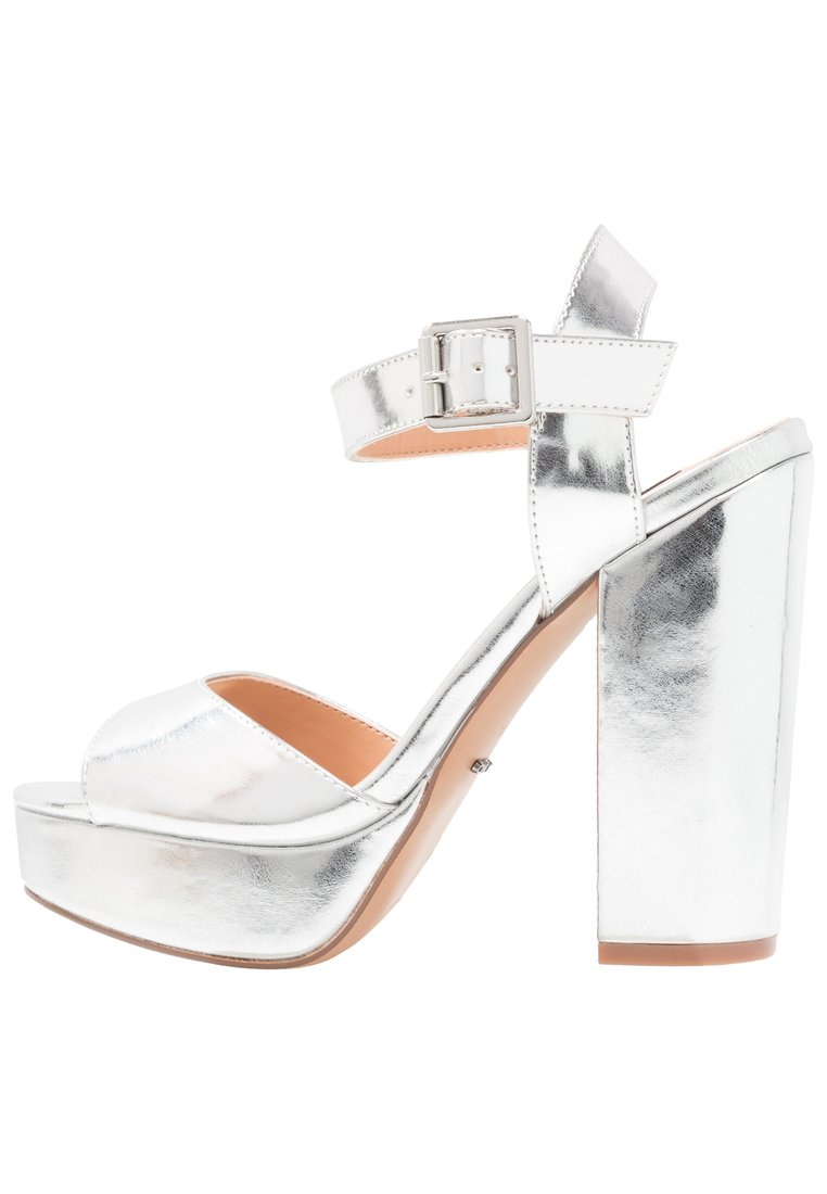ONLY SHOES ONLALLIE Sandały na obcasie silver - 15157174