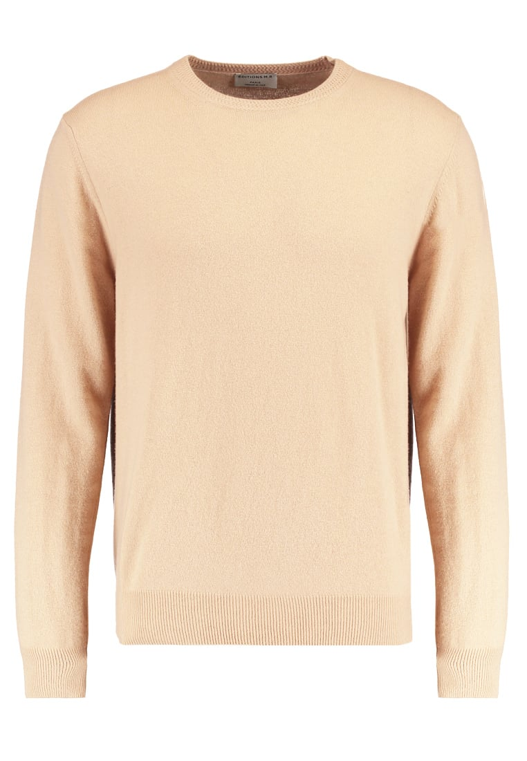 Editions MR BOXY CREWNECK Sweter camel - 0481-T706-CAMEL