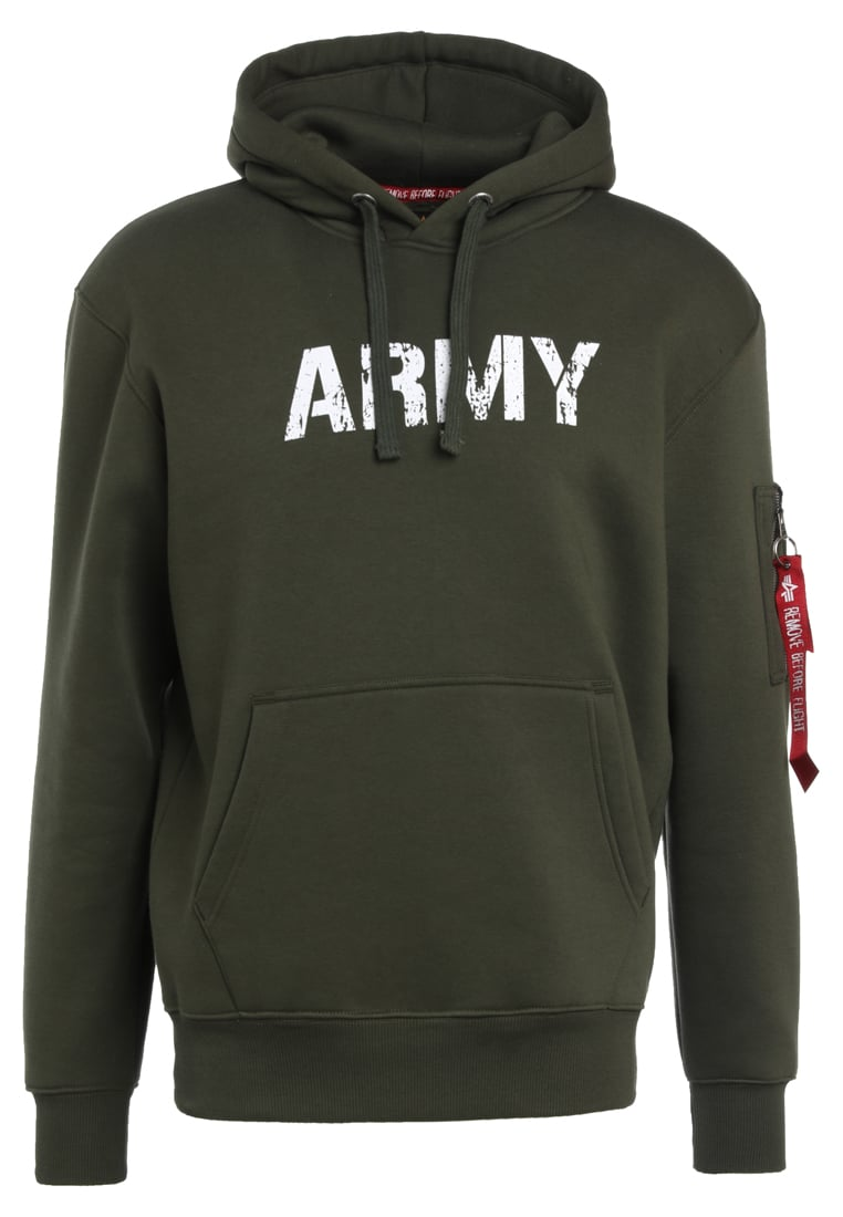 Alpha Industries ARMY NAVY Bluza z kapturem dark green - 178315