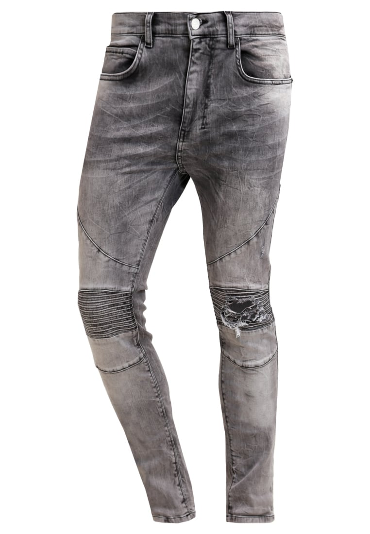 Religion CAVERN Jeansy Slim fit grey veins - E200 CN P58