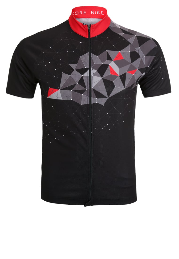 Gore Bike Wear ELEMENT MOUNTAIN Tshirt z nadrukiem black/red - SELMOU