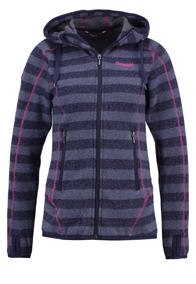 Bergans HUMLE Kurtka z polaru navy/dustyblue/hot pink - 1991