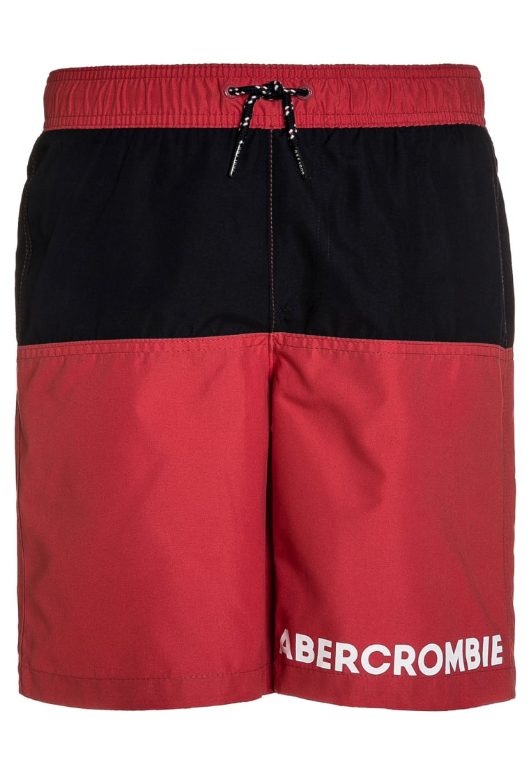 Abercrombie & Fitch CORE Szorty kąpielowe red/navy - KI233-7005