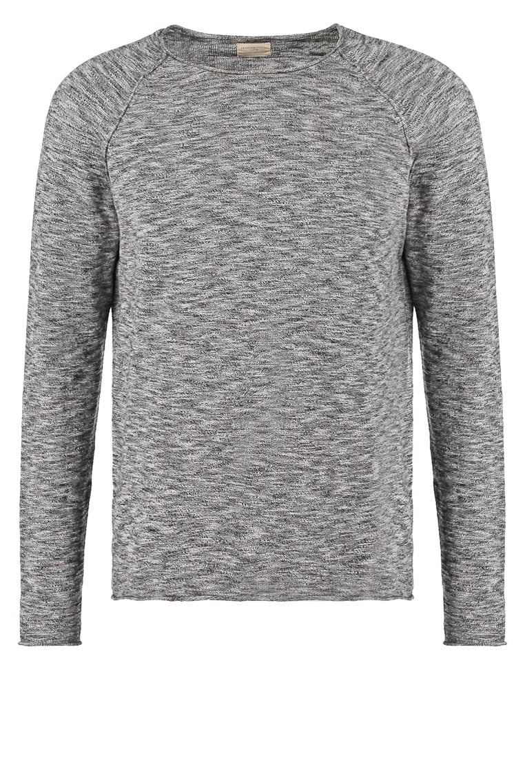 Selected Homme CLASH Sweter black/grey melange - 16035310
