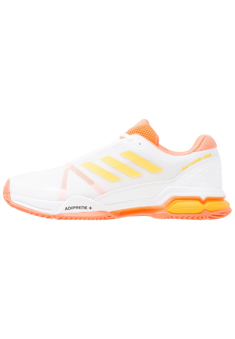 adidas Performance BARRICADE CLUB Buty do tenisa Outdoor white/solar gold/glow orange - KDC47