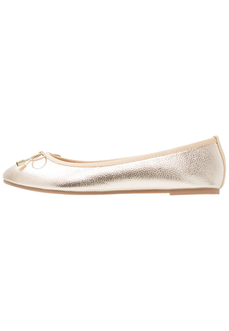 Dorothy Perkins Wide Fit Baleriny gold - 35268520