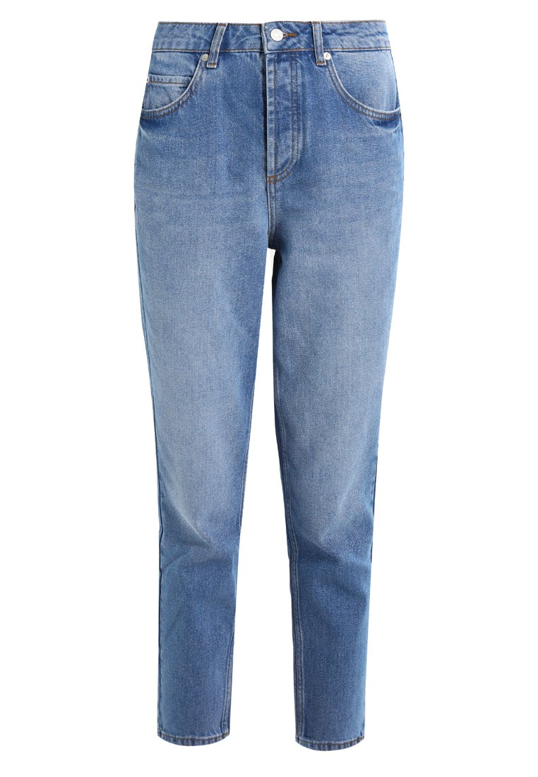 Selected Femme HIGH RISE MOM WHITE WEAVE Jeansy Relaxed Fit light blue denim - 16061049