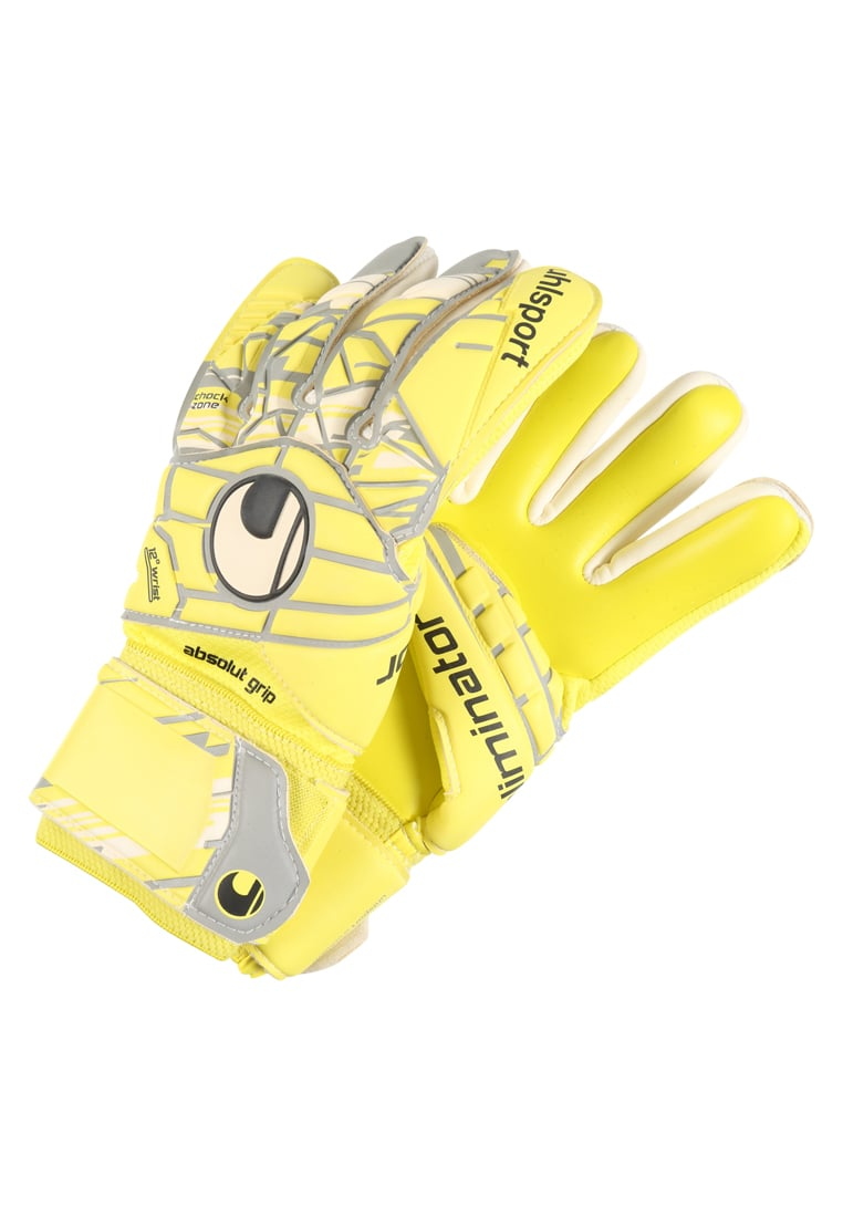 Uhlsport ELIMINATOR Rękawice bramkarskie lite fluo yellow/griffin grey/white - 1011011