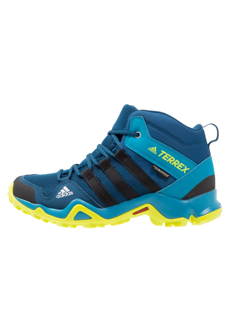 adidas Performance TERREX AX2R CP Buty trekkingowe blue night/core black/semi solar yellow - IJP74