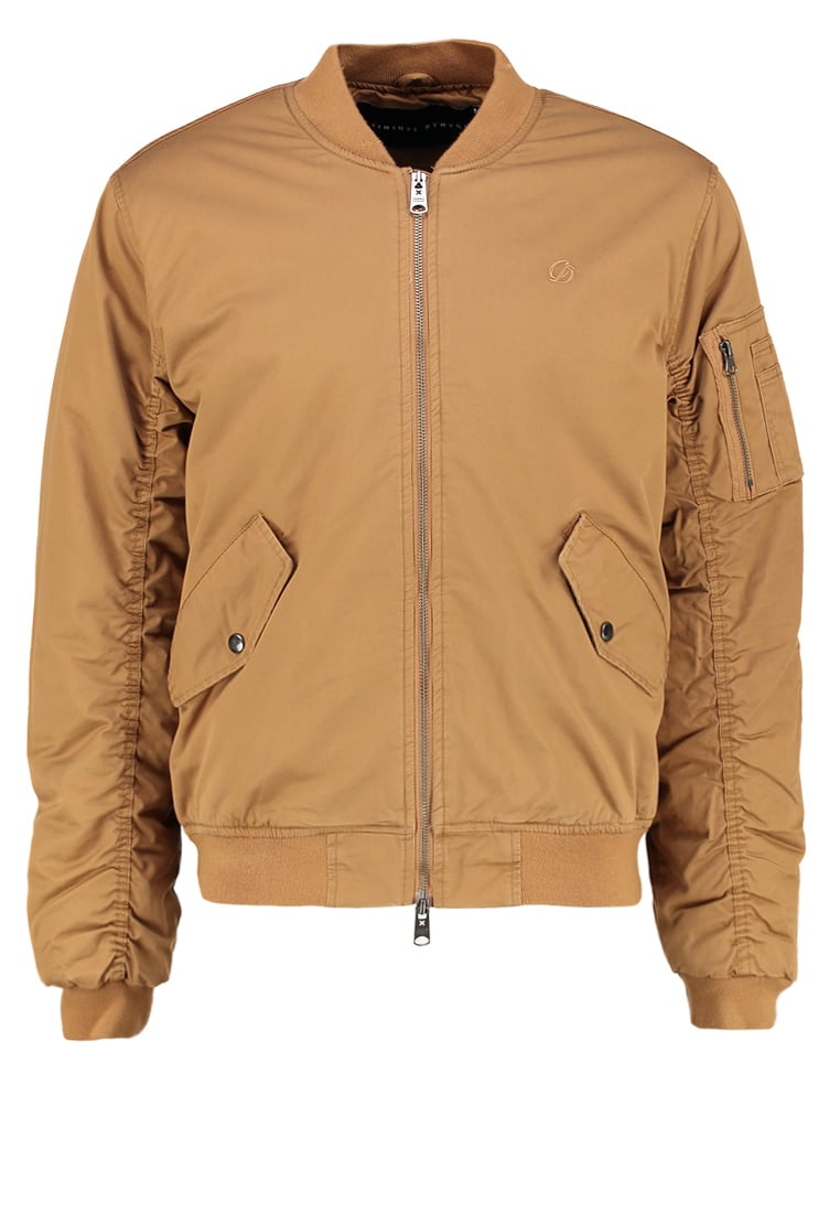 Criminal Damage AIRFORCE Kurtka Bomber sand - AIRFORCE JACKET