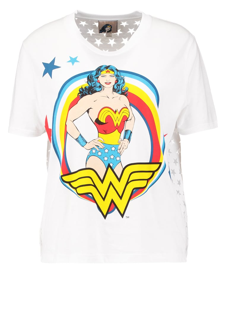 Paul & Joe Sister WONDER Tshirt z nadrukiem blanc - 5WONDER