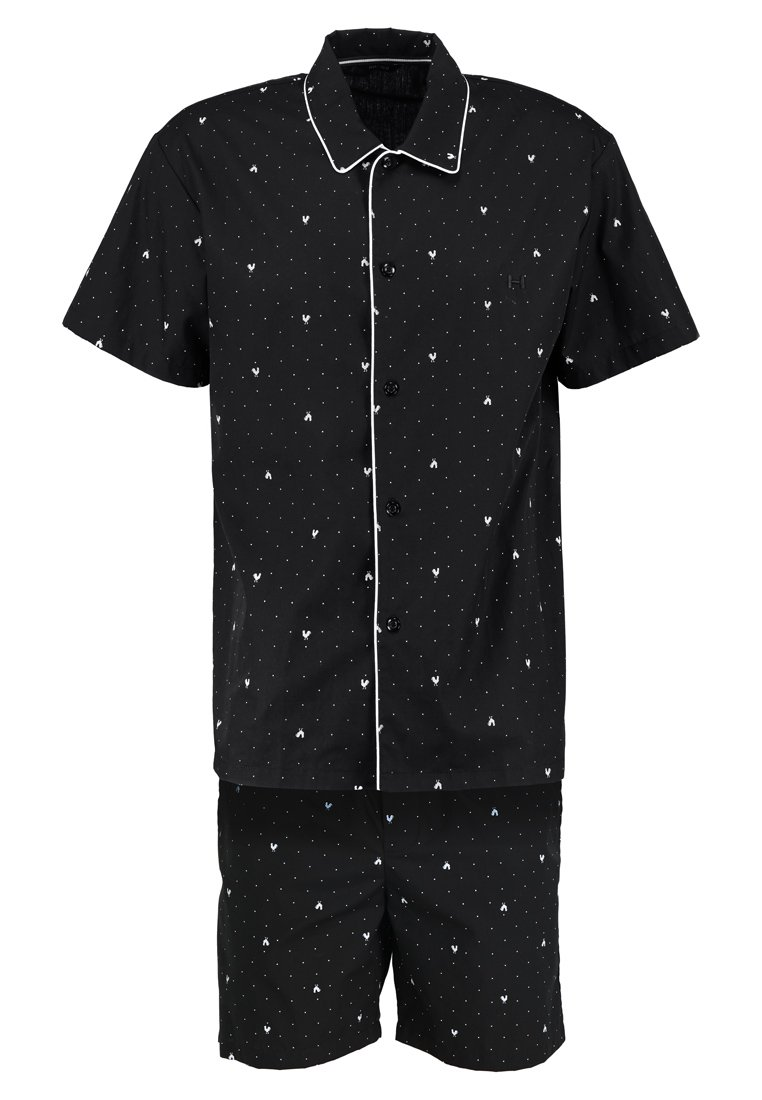 HOM FRENCHY SHORT WOVEN SLEEPWEAR Piżama black/white - 400801